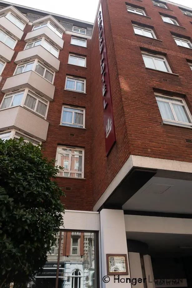 WW1 bomb drop plaque Bedford Hotel 83- 93 Southampton Row, London WC1B 4HD
