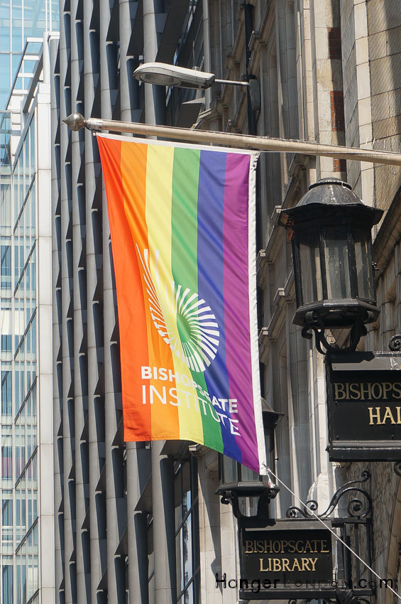 Rainbow Flag for pride london 2018 Bishopsgate Institue