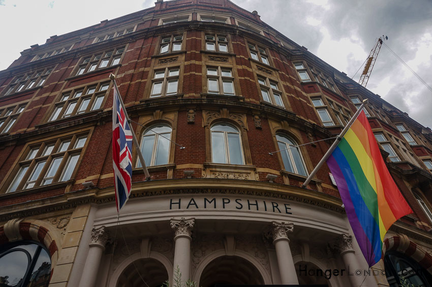 Pride Flag and British Flag