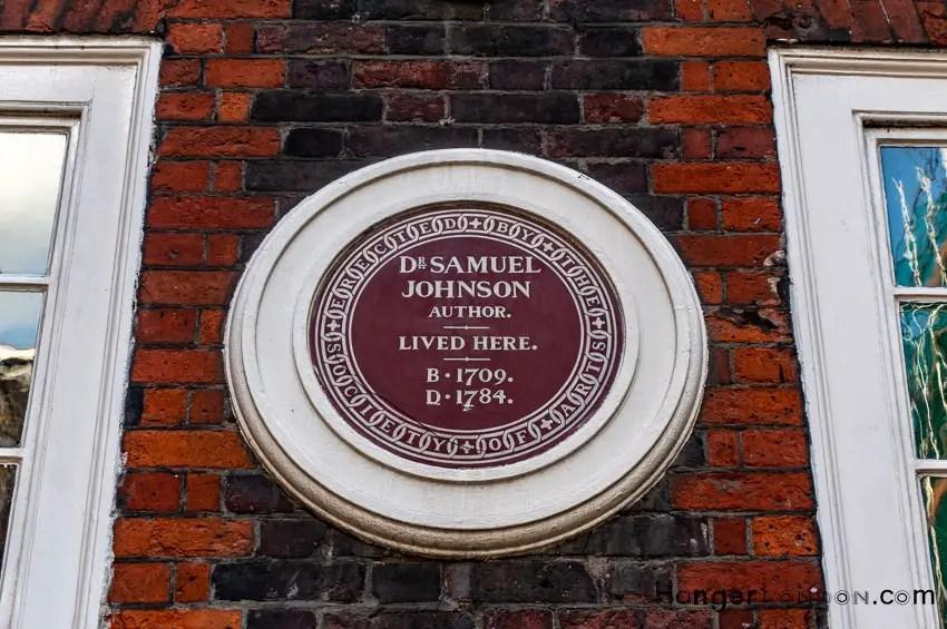 Dr Johnson Lived here