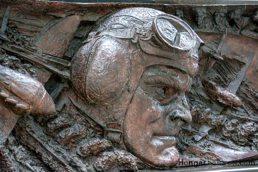 Battle Of Britain Monument at Embankment. By artist Paul Day put up on 18/9/2005