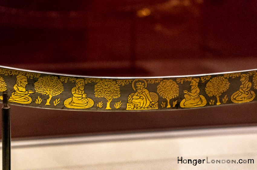 Decorated Sword 10 Sikh Gurus Empire of the Sikhs Exhibition Brunei Gallery