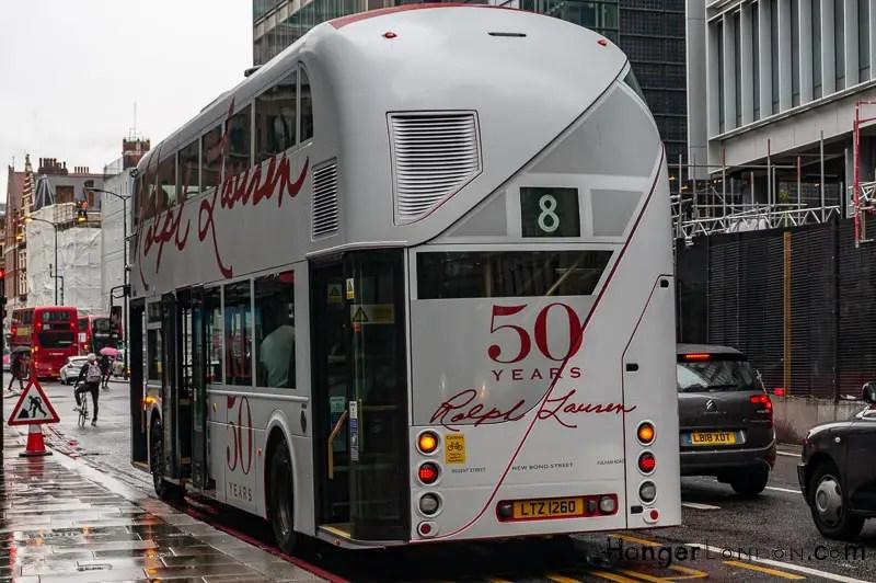 Ralph Lauren 50 yrs Design London Bus 8