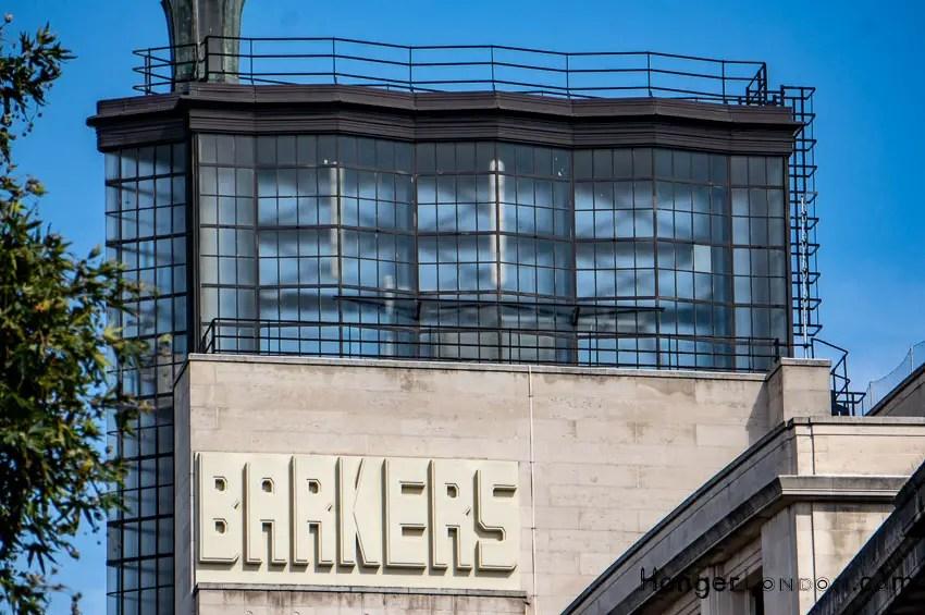Top area Barkers Department store next door to 99 Kensington High St