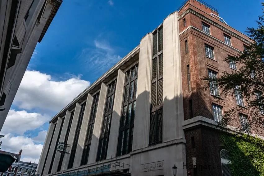 Side View of Barkers opposite 99 Kensington High street