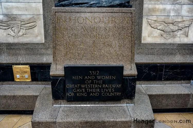 Great Western Rail War memorial Paddington Station