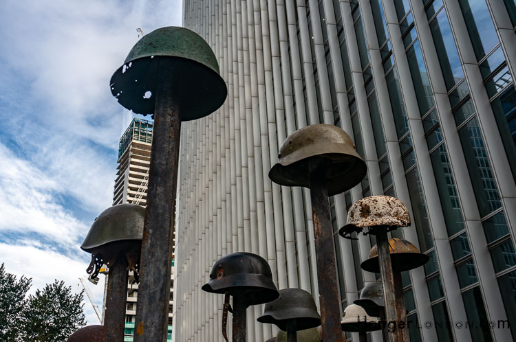 Lost Steel Helmets in Lost Soldiers Montgomery Square Art Item 2