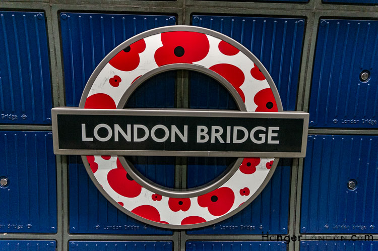 London Bridge Poppy Roundel TFL