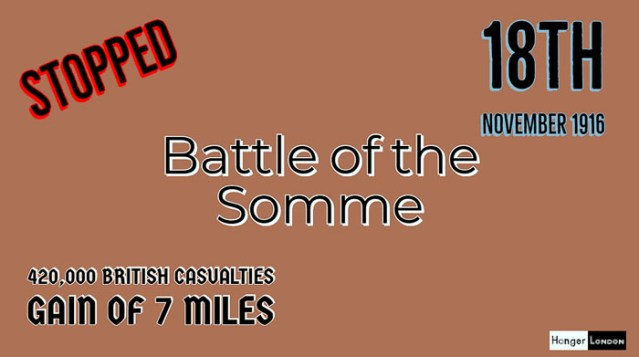 Haig Calls for the end of the Battle of the Somme 18th November 1916