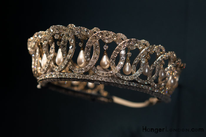 Vladimir Tiara c. 1874 Diamond Silver and Pearl. Worn by Grand Duchess Maria Pavlovna. Jeweller C.E Bolin