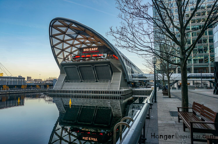 Canary Wharf Cross Rail place futuristic building with roof garden