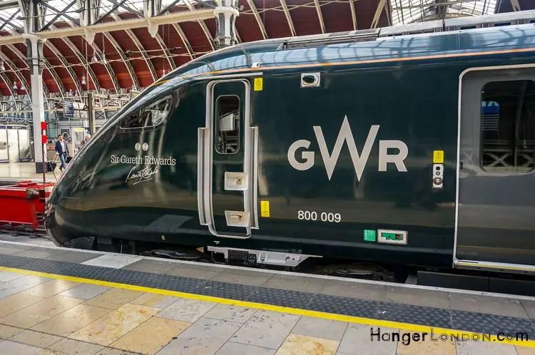 Sir Gareth Edwards Autographed GWR train