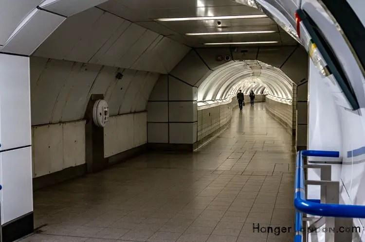 Bank underground station tunnels
