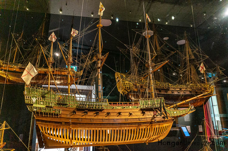 Wooden Tudor ship in New Gallery Maritime Museum
