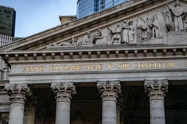 Portico Pediment with sculptured Frieze Royal Exchange