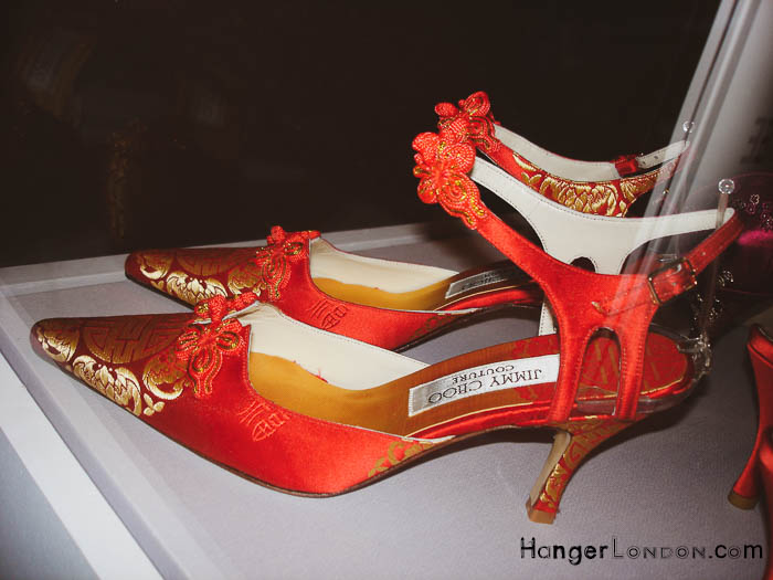 Jimmy Choo Courture Red Chinese style heeled shoes