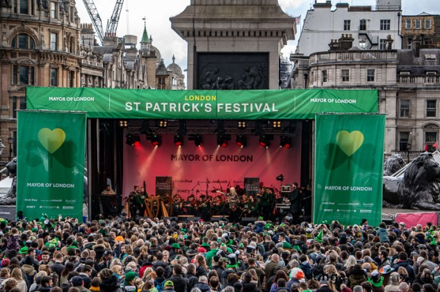 St Patricks Day London main stage trafalgar square