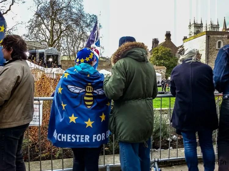 Manchester on an EU flag