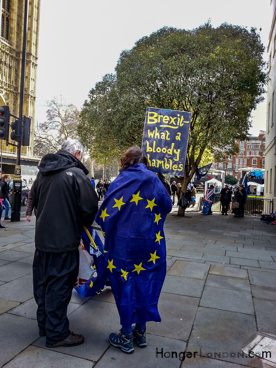 Slogan saying Brexit - What a bloody shambles