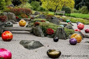 selection of chihuly niijima floats coloured glass balls kew