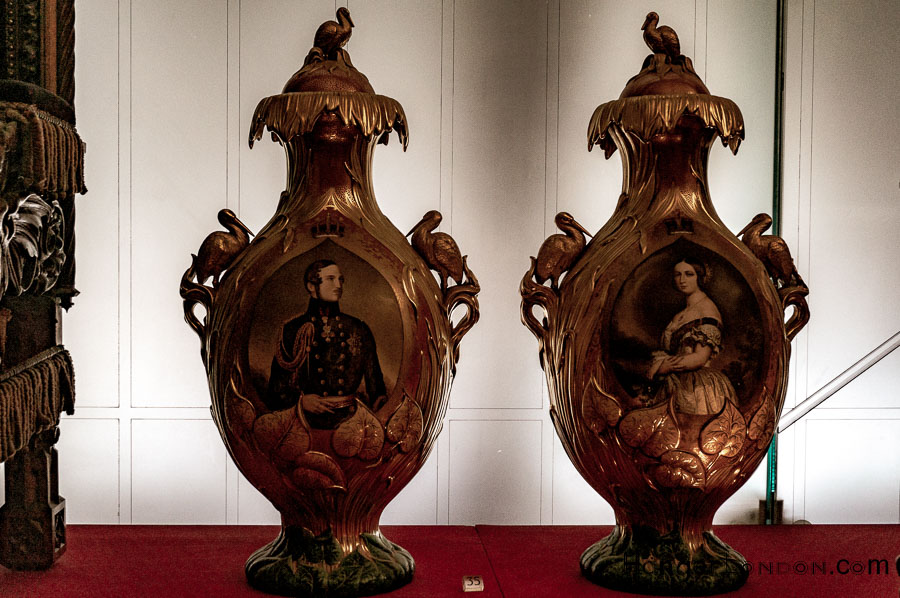 Charles Meigh & Co Victoria & Albert Vases with lids