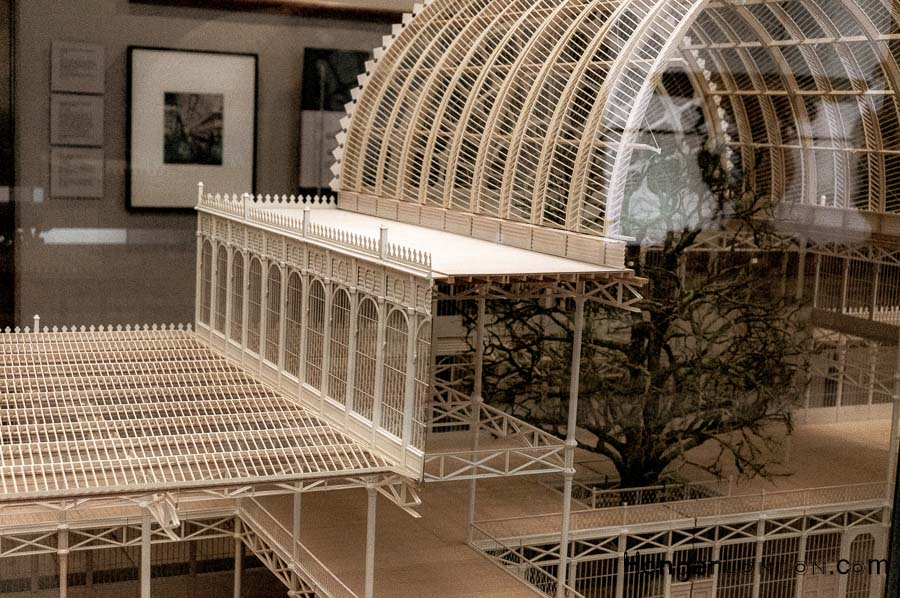 model of part of the Crystal Palace Structure at the V&A Museum