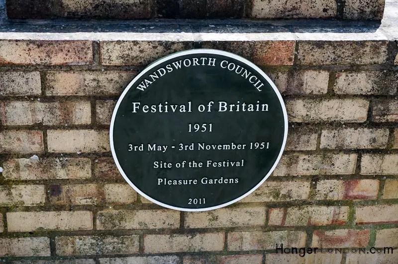 Plaque in Battersea Park Festival of Britain 1951