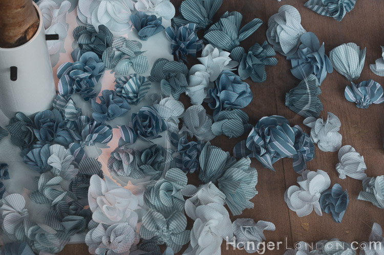 Shirt fabric flowers for Chelsea in Bloom Thomas Pink