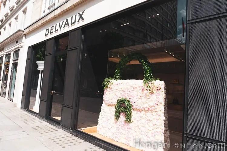 Delvaux floral Handbag shop window design
