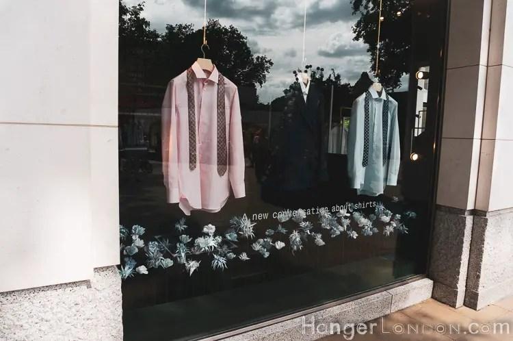 Shirt shop window Thomas Pink in Bloom