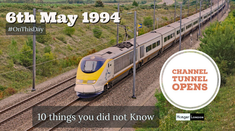 The channel tunnel opened 6th May 1994, linking Britain to France