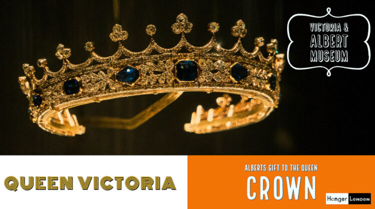 Queen Victorias Crown on display at the Victoria and Albert Museum