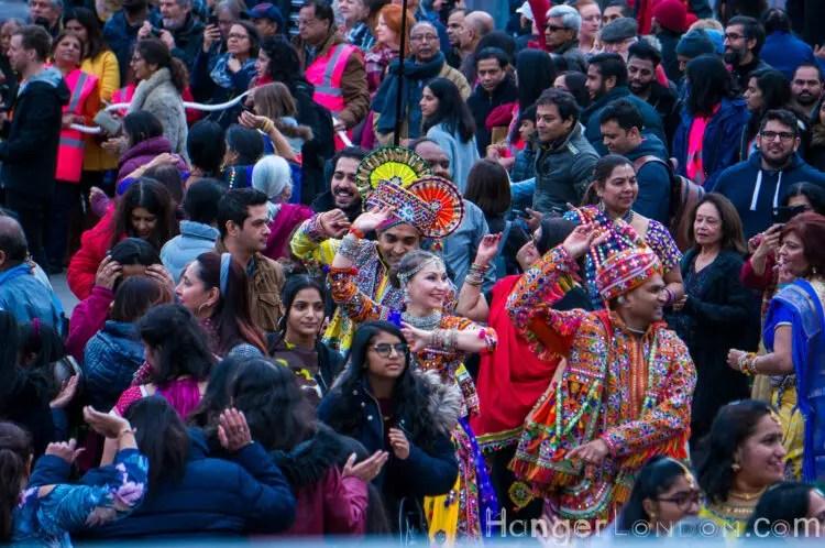 The crowds at Diwali celebrations London