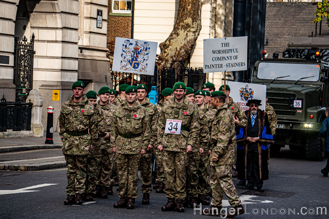 Soldiers ready to March Lord Mayors Show