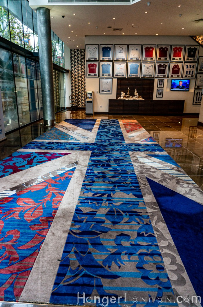 Hilton Wembley Union Jack Carpet