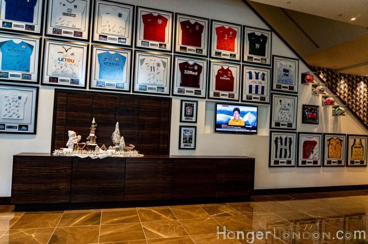 Hilton Wembley football shirts