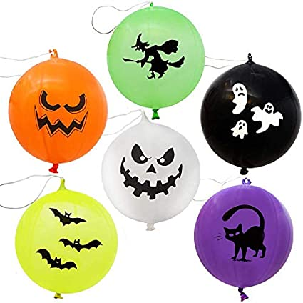 JOYIN 36 Pieces Halloween Punch Balloons for Halloween Punching Balloon Party Favor Supplies Decorations 1
