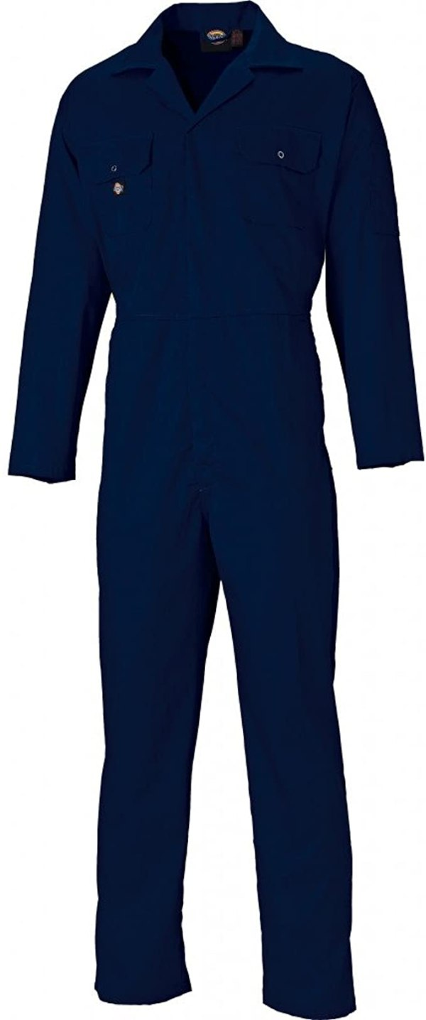 Dickies Coverall Overalls Boiler Suit Redhawk Stud Economy Mens Pen Pocket On Sleeve Two Chest Pockets One Back Patch Pocket Full Back Elasticated Waistband Hardwearing Functional Workwear WD4819 1