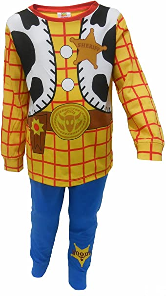 Boys Toy Story Buzz LightYear Or Woody Dressing Up Pyjamas 18-24m 2-3y 3-4y 4-5y 5-6y 1
