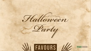 Halloween party favours