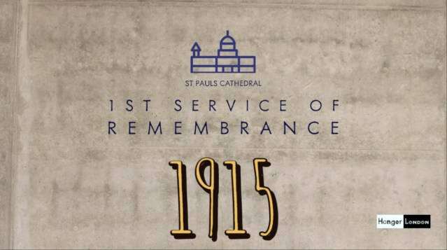 1st service of Remembrance and Payer 1915