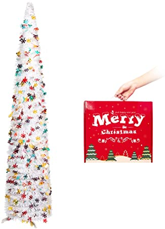 5ft Collapsible Pop up Christmas Tinsel Tree 1