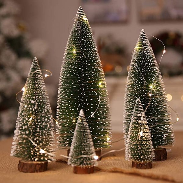 5Pcs Frost Trees and 3M Yard Wire String Ornaments 1