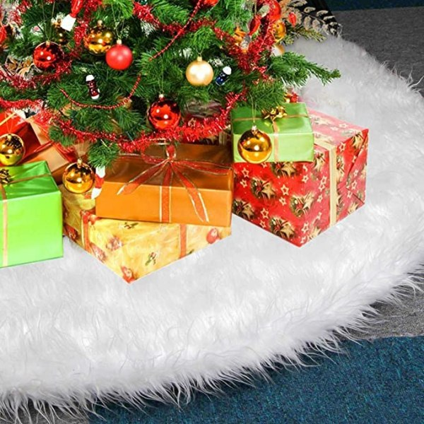 White Christmas Tree Skirts, 30inch 1