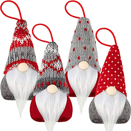 4 Pieces Christmas Tree Hanging Gnomes 1