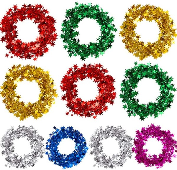 10 rolls Tinsel Wire 6 colours 1