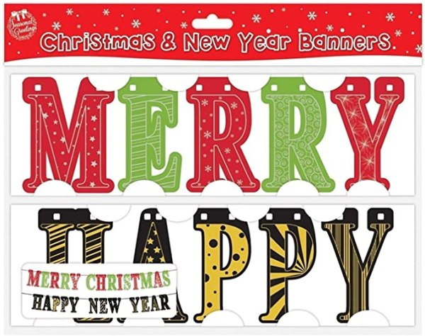 Merry Christmas and Happy New Year Banners 1