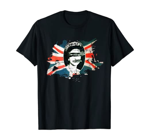 Sex Pistols Official Flag God Save The Queen T-shirt 1
