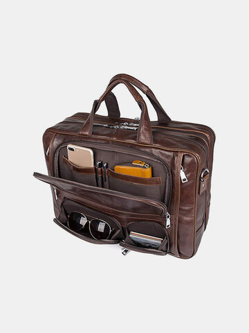 Multifunction Multi-pocket Waterproof Briefcase Business Handbag Crossbody Bag