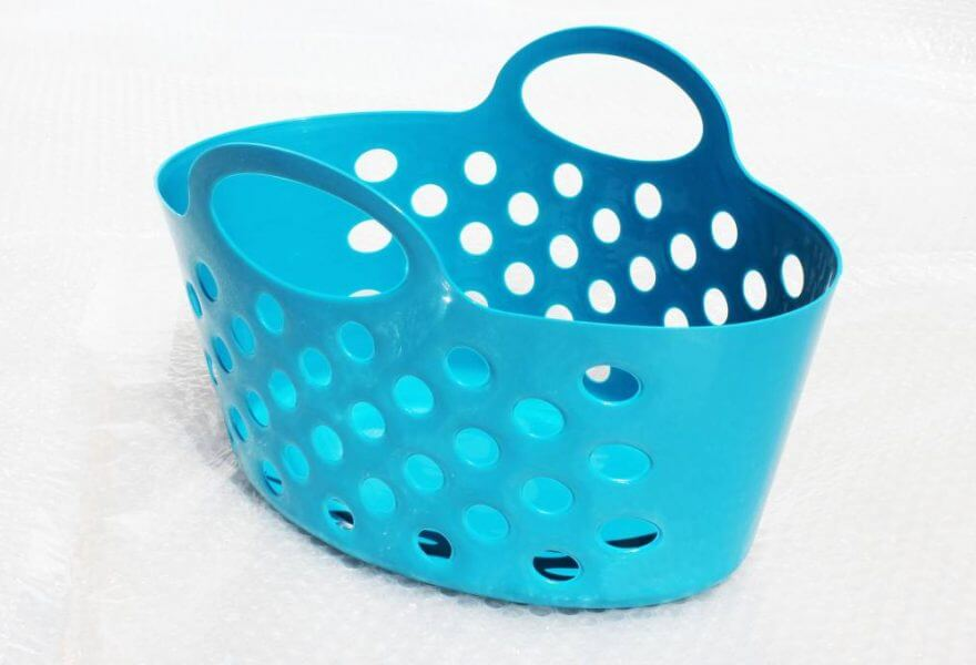 Plastic baskets with handles Storage Baskets  Teal